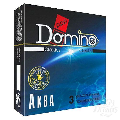 Фотография 1:  Презервативы Domino  Аква  - 3 шт.