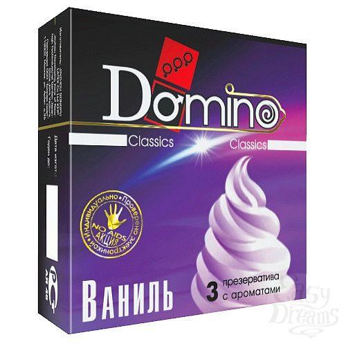 Фотография 1:  ароматизированные презервативы Domino  Ваниль  - 3 шт.
