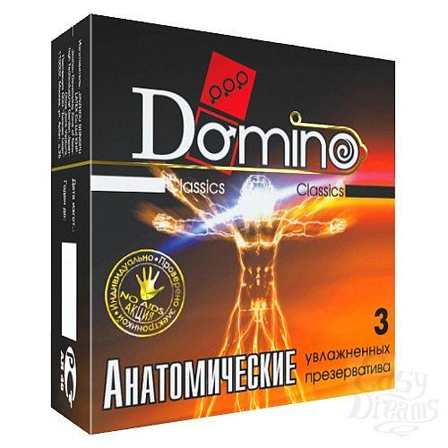 Фотография 1:  Презервативы анатомической формы Domino  Анатомические  - 3 шт.