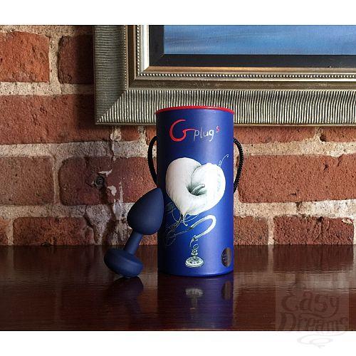 Фотография 4 Fun Toys Большая дизайнерская анальная пробка с вибрацией - Gplug 10,5 см - FT London (ex. Fun Toys), Синий