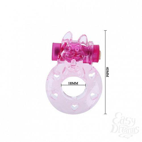 Фотография 3  Розовое эрекционное виброкольцо