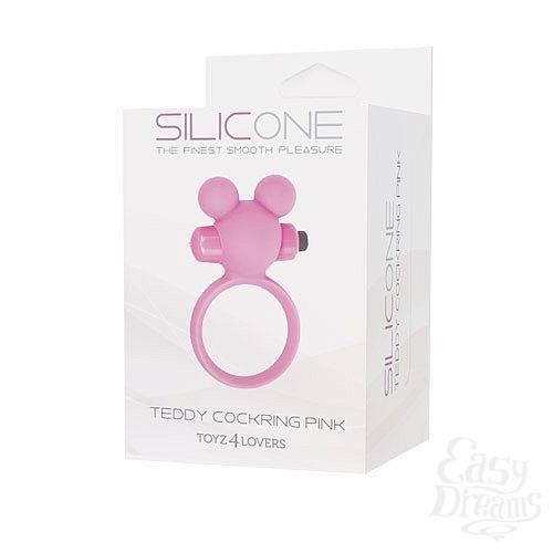 Фотография 2 Toyz4lovers Эрекционное виброкольцо Teddy розовое T4L-801785