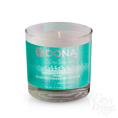 Фотография 1: DONA Массажная свеча DONA Scented Massage Candle Naughty Aroma: Sinful Spring 135 г