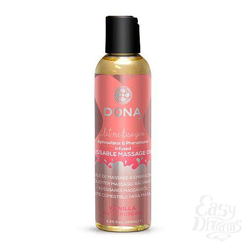 Фотография 1:  Массажное масло DONA Vanilla Buttercream с ароматом ванильного крема - 125 мл.