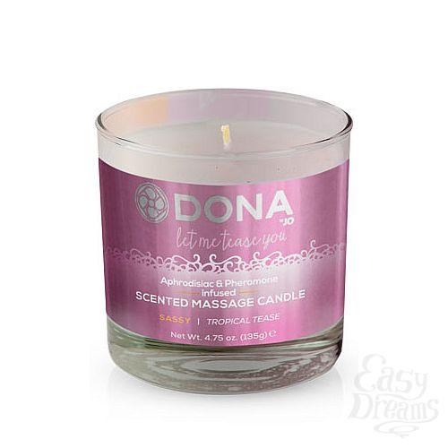 Фотография 1:  Массажная свеча DONA Sassy Tropical Tease - 135 гр.