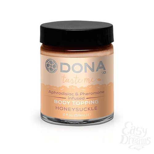 Фотография 1:  Топпинг для тела DONA Honeysuckle с ароматом жимолости - 59 мл.