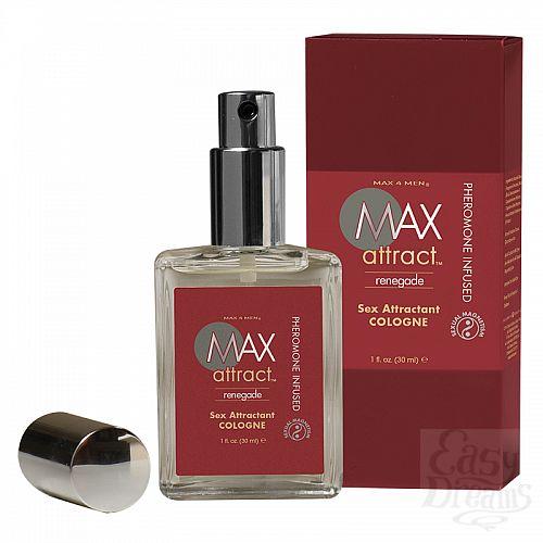 Фотография 1:  Пряный мужской аромат с феромонами MAX Attract Renegade - 30 мл.