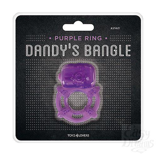 Фотография 2  Фиолетовое эрекционное виброкольцо VIBRATING COCK RING KINKY