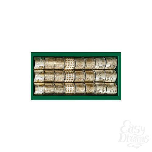 Фотография 1:  Лента для декорирования кремово-золотая с узором,