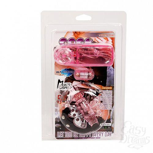 Фотография 2 Baile Вибро-бабочка на ремешках розовая BI-010136PK