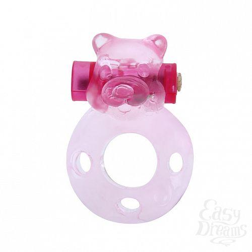 Фотография 1: Baile Эрекционное виброкольцо Pink bear  BI-010083