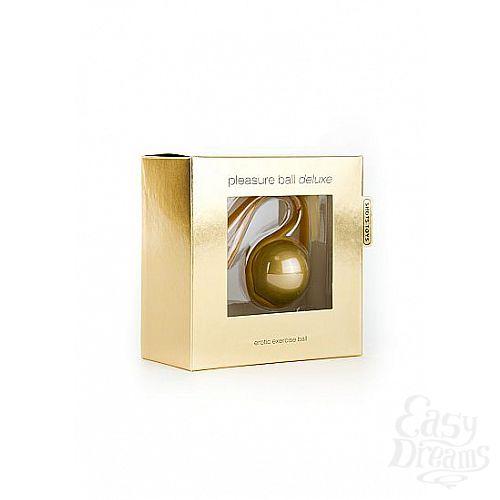 Фотография 2  Золотистый вагинальный шарик Pleasure Ball Deluxe