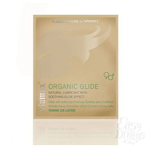 Фотография 1:  Лубрикант Organic glide на растительной основе - 2 мл.