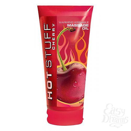 Фотография 1:  Разогревающее массажное масло с ароматом вишни Hot Stuff Warming Oil - 177 мл.
