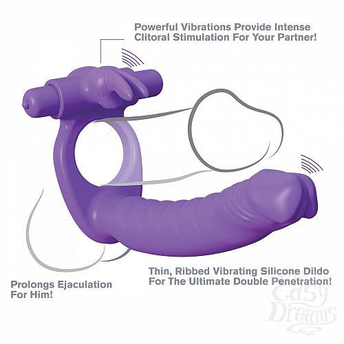 Фотография 2  Эрекционное кольцо для двойного проникновения Silicone Double Penetrator Rabbit