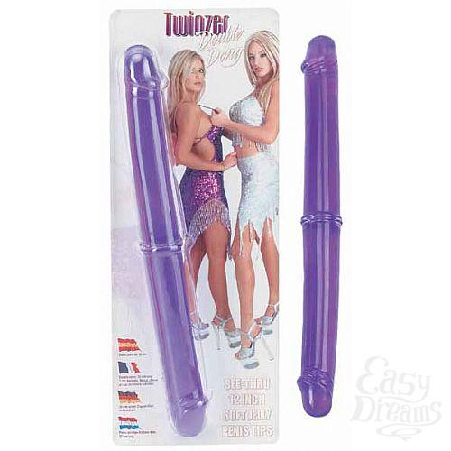 Фотография 1:  Двухстороний фаллоимитатор Twinzer Double Dong