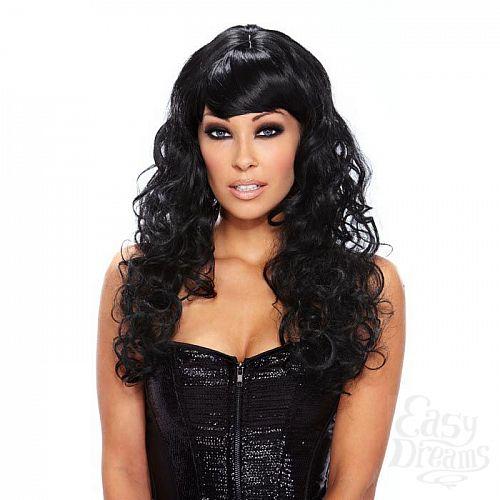 Фотография 1:  Кудрявый парик черного цвета Fierce