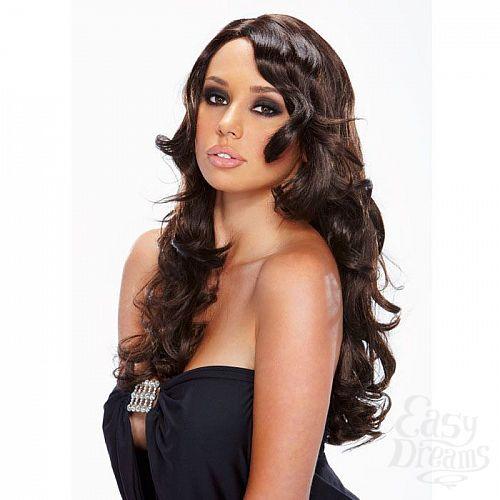 Фотография 1:  Черный парик с вьющимися локонами Ringleader