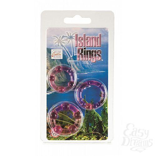 Фотография 2  Набор из трех розовых колец разного размера Island Rings