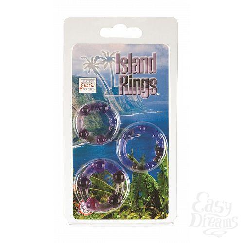 Фотография 2  Набор из трех фиолетовых колец разного размера Island Rings