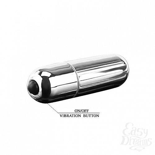 Фотография 3  Серебристая вибропуля с 10 режимами вибрации