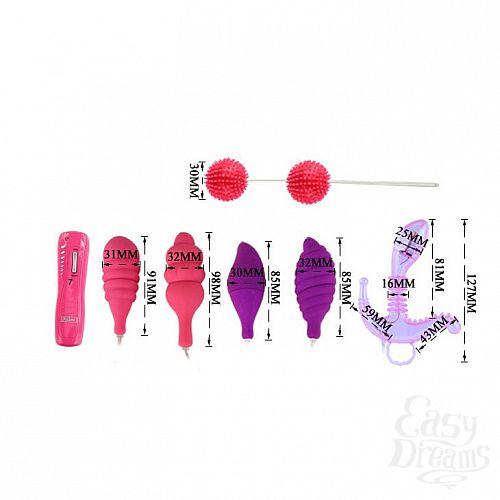 Фотография 8  Вибронабор Climax Combo: вагинальные шарики, 5 стимуляторов и пульт-контроллер