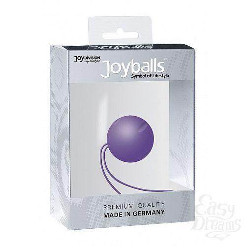 Фотография 1:  Фиолетовый вагинальный шарик Joyballs с петелькой