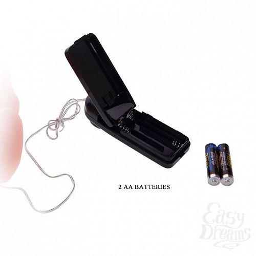 Фотография 5  Телесный вибромассажер-реалистик на присоске - 20 см.