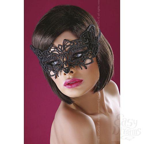 Фотография 1:  Широкая, закрывающая нос ажурная маска