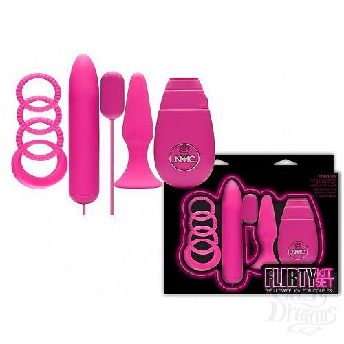 Фотография 1:  Розовый вибронабор FLIRTY