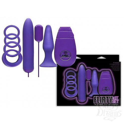 Фотография 1:  Фиолетовый вибронабор FLIRTY