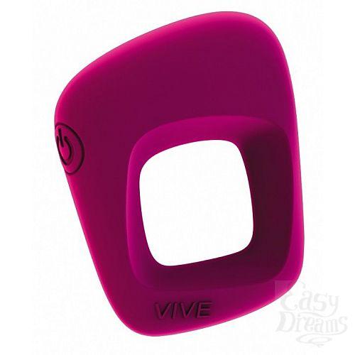 Фотография 1:  Розовое эрекционное вибрирующее кольцо Senca
