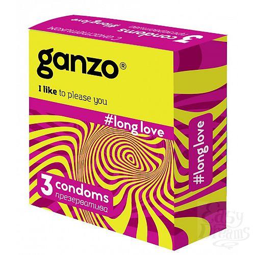 Фотография 1:  Презервативы с анестетиком для продления удовольствия Ganzo Long Love - 3 шт.