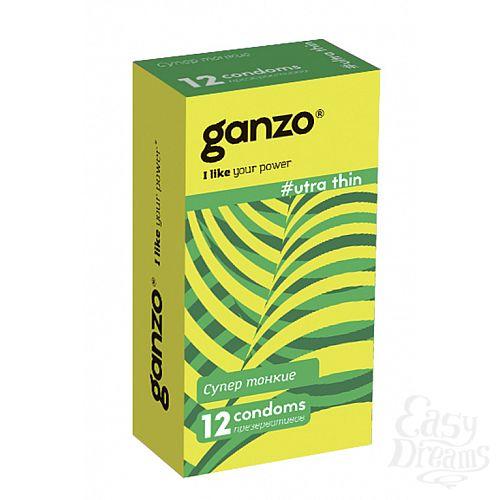 Фотография 1: ФармЛайн Презервативы Ganzo Ultra thin № 12