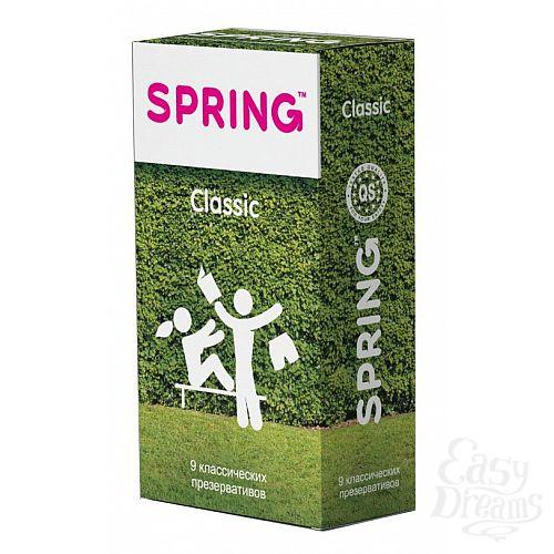 Фотография 1:  Классические презервативы SPRING CLASSIC - 9 шт.