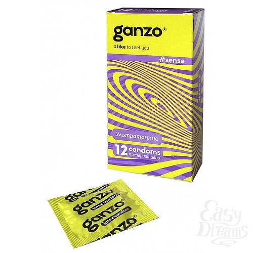 Фотография 1:  Презервативы Ganzo Sense № 12