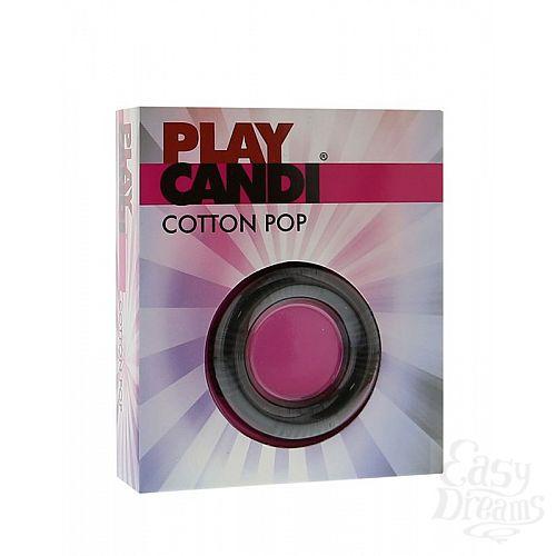 Фотография 2  Чёрное эрекционное кольцо PLAY CANDI COTTON POP BLACK