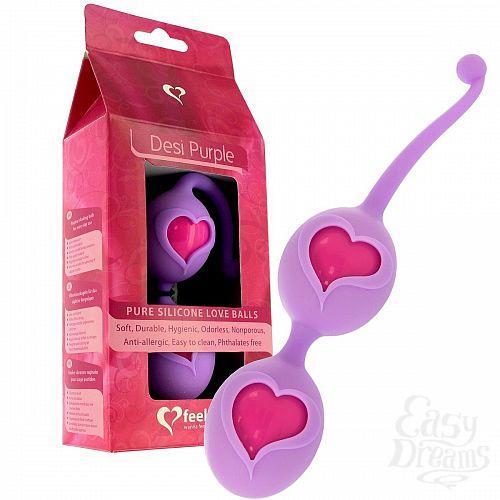 Фотография 1:  Фиолетовые вагинальные шарики Desi Love Balls