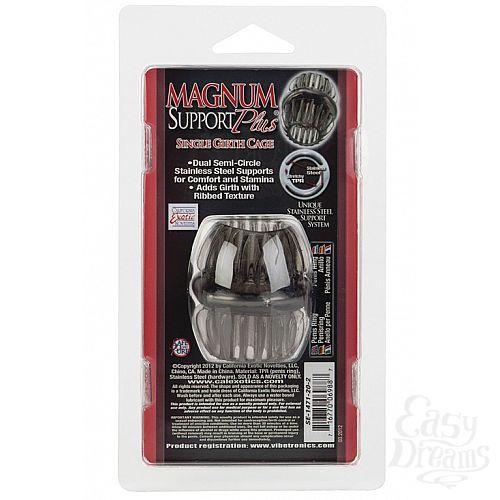 Фотография 3 California Exotic Novelties Насадка стимулирующая Magnum Support Plus ® Single Girth Cages черная