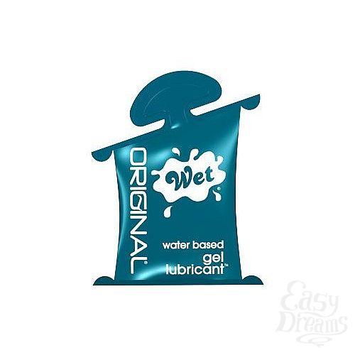 Фотография 1:  Гель-лубрикант на водной основе Wet Original - 10 мл.
