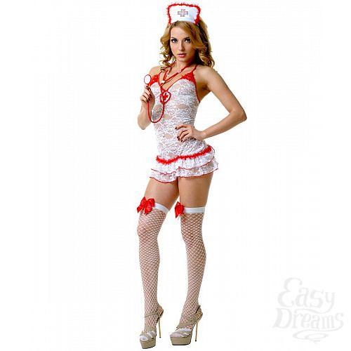 Фотография 1: LE FRIVOLE Кружевной костюм соблазнительной медсестры (Le Frivole) , S/M