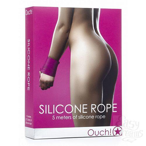 Фотография 2  Розовая силиконовая лента для бандажа - 5 м.