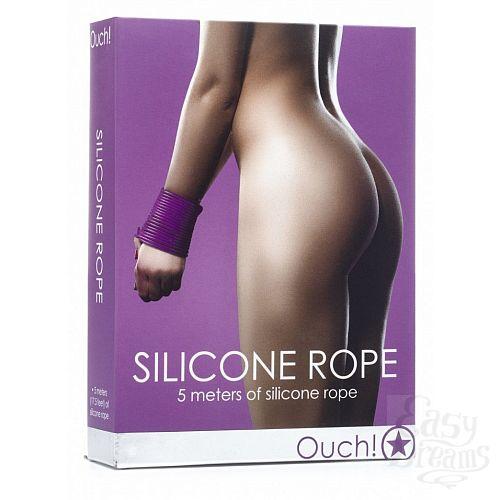 Фотография 2  Фиолетовая силиконовая лента для бандажа - 5 м.