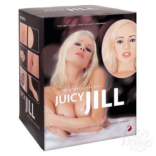 Фотография 1:  Надувная секс-кукла с анатомическим лицом и конечностями Juicy Jill