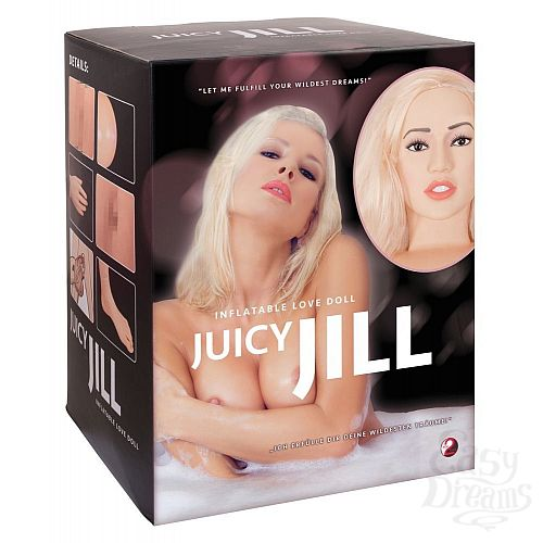 Фотография 7  Надувная секс-кукла с анатомическим лицом и конечностями Juicy Jill