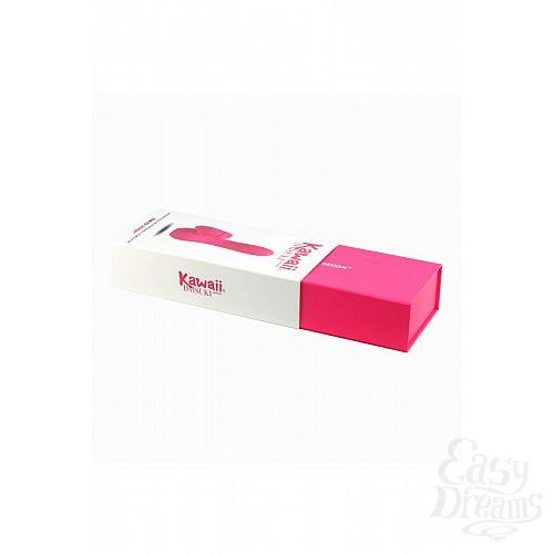 Фотография 4  Розовый вибратор с клиторальным стимулятором Kawaii Daisuki 3