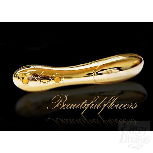 Фотография 3 Baile Премиум-вибромассажер Honoradble Gold, 16 см., Золотой