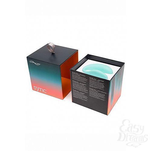 Фотография 6  Голубой вибромассажер для пар We-Vibe Sync Aqua на радиоуправлении