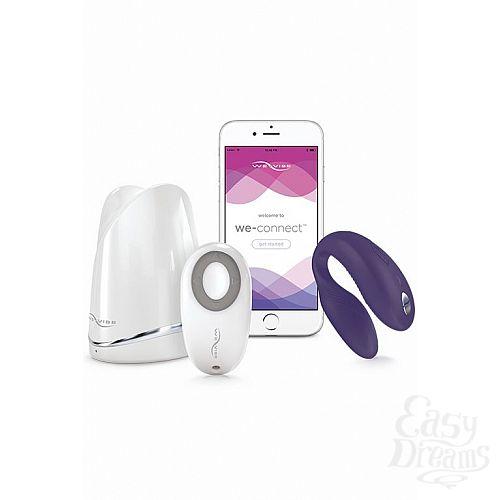 Фотография 5  Фиолетовый вибромассажер для пар We-Vibe SyncPurple на радиоуправлении
