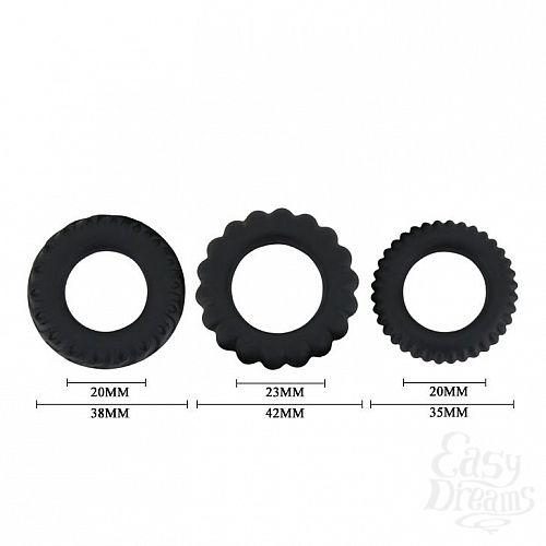 Фотография 4  Набор из 3 эрекционных колец, имитирующих автомобильные шины, Titan